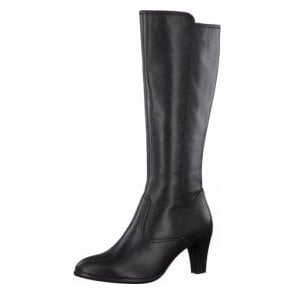 25561-25 Black Leather Long Legged Boot
