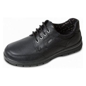 Terrain Black Leather Waterproof Lace Shoe