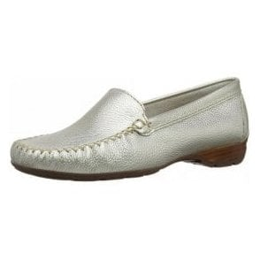 Sanson Metallic Leather Loafer Moccasin Shoe