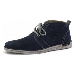 Rodney 13 Navy Suede Leather Desert Boot
