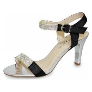 Lunar Petra JLH772 Black Sandal with Diamontes