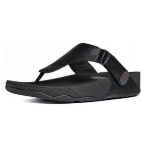 Trakk II Black Leather Sandal