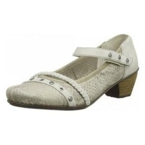 41765-64 Beige Combi Synthetic Leather Shoe