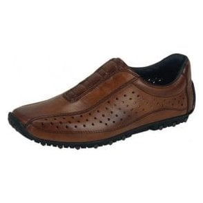08979-24 Brown Leather Mens Shoe