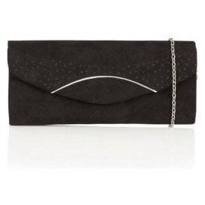 Hallmark Kendall Black Microfibre Clutch Bag