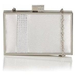 Hallmark Rhiannon Silver Satin Clutch Bag