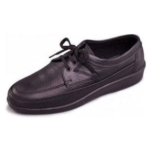Griff Black Leather Lace Shoe