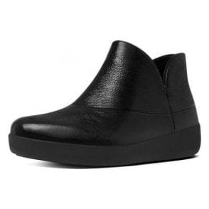 Supermod Black Patent Ankle Boot