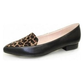 Victoriana FLC010 Black Animal Print Pump Shoe