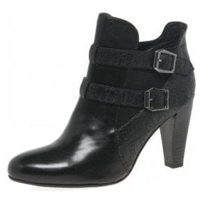 Fabia 01 Black Leather Ankle Boot
