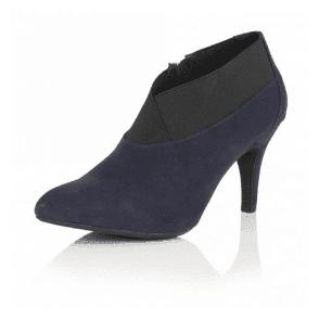 Florus Navy Microfibre Shoe-Boots