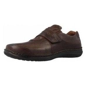 Alec Moro Brown Leather Velcro Shoe