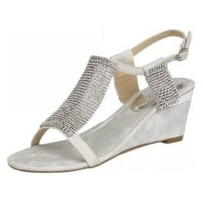 Klaudia Silver & Chainmail Wedge Sandals
