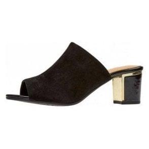 Hay Black Suede Mule Sandal