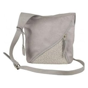 H1428-40 Grey Crossover Handbag