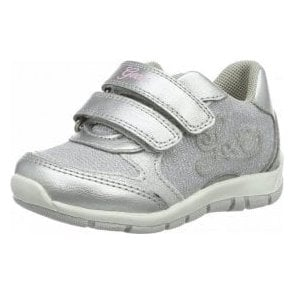 B Shaax G Light Grey / Silver Velcro Girls Shoe