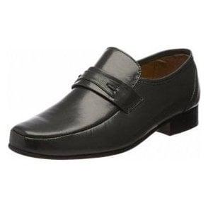 Regent Grey Leather Slip on Shoe