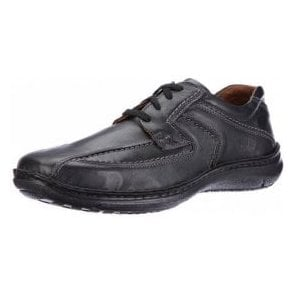Anvers 08 Black Leather Lace Shoe