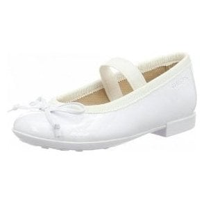 J Plie I J5455I White Patent Girls Shoe