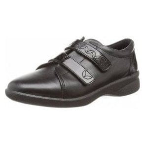 Revive 2 Black Leather Velcro Shoe