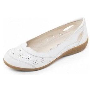 Demi 2 White Leather Comfort Shoe