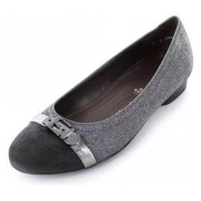 63374-29 Grey With Glitter Fabric Pump