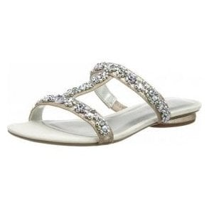 27191-20 Silver Sandal With Diamontes