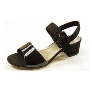 28211-28 Black Patent / Synthetic Sandal