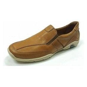 Linus 09 Camel Brown Leather Men's Shoe
