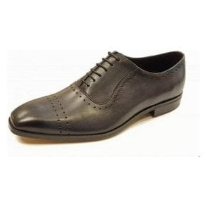 L-5453 Charcoal Grey Leather Lace Up Shoe