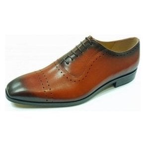 L-5453 Burnished Tan Leather Lace Up Shoe