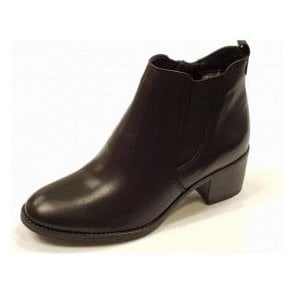 25043-29 Black Leather Ankle Boot
