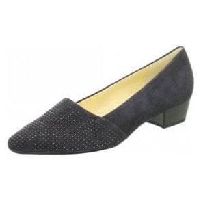 Azalea 75.134.16 Dark Navy Suede Court Shoe