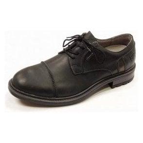 Oscar 55 Black Leather Waterproof Lace Shoe
