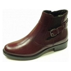 25002-29 Bordeaux Leather Ankle Boot