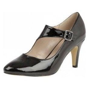 Laurana Black Patent Court Shoe