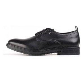 Elba Black Waxy Leather Lace Shoe
