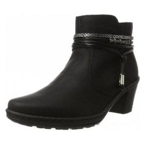 54953-00 Black Synthetic Ankle Boot