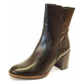 25049-29 Black Leather Leather Ankle Boot