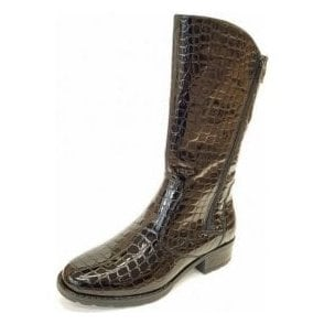 49506-95 Black Patent Croc Boot