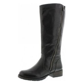 Z9581-00 Black Leather Riding Style Boot