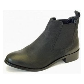 Merilee GLH492 Black Leather Ladies Chelsea Boot