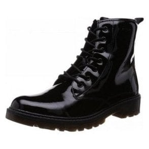 J Casey G J5420K Black Patent Girls Boot