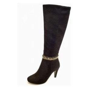 Chase GLC630 Black Suede Look Ladies Boot