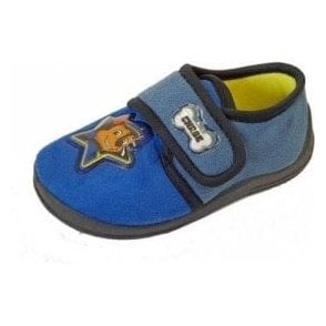 Paw Patrol Blue Fabric Boys Slipper