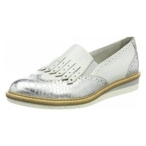 24305-20 White / Silver Combination Loafer Shoe