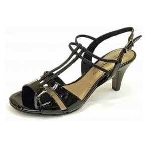 28304-20 Black Patent / Synthetic Sandal