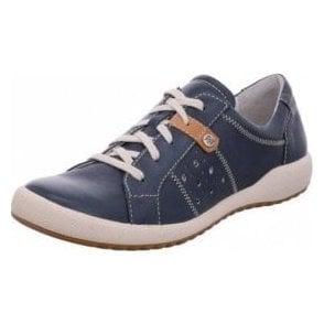 Romika Cordoba 01 Ocean Navy Leather Lacing Shoe