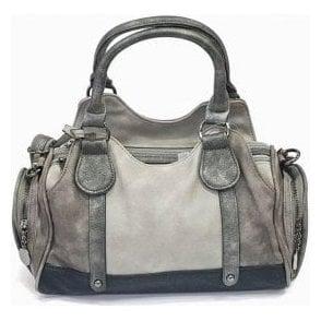 H1013-42 Grey Multi Handbag