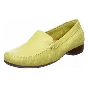 Sanson Citron Leather Loafer Moccasin Shoe